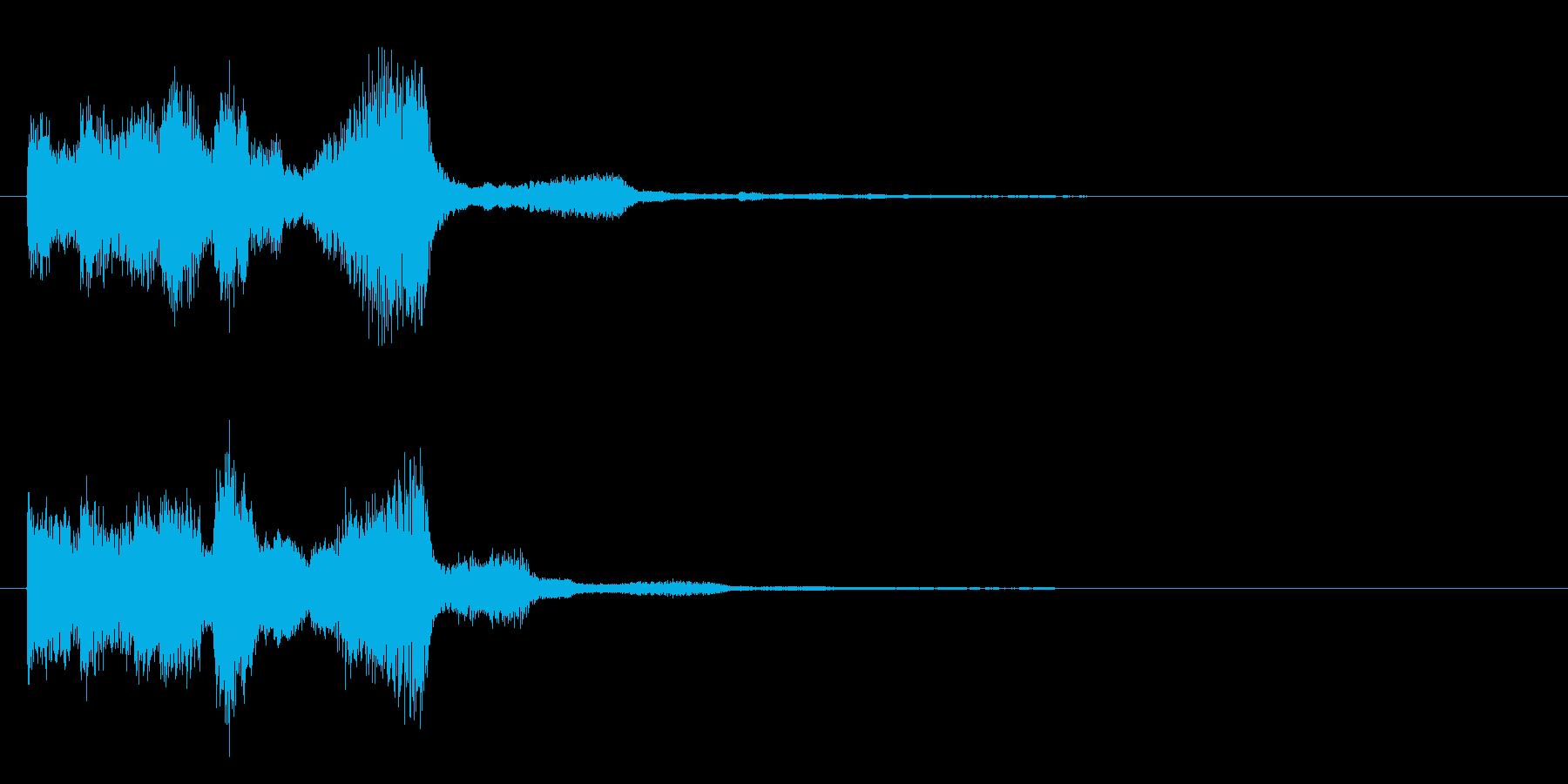 シンセサイザーなジングルの再生済みの波形