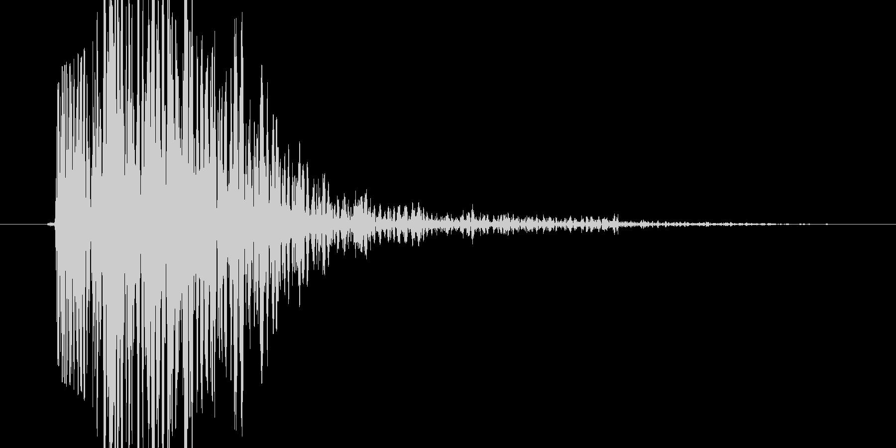 ガシッ(何かに思い切り掴まる音)の未再生の波形