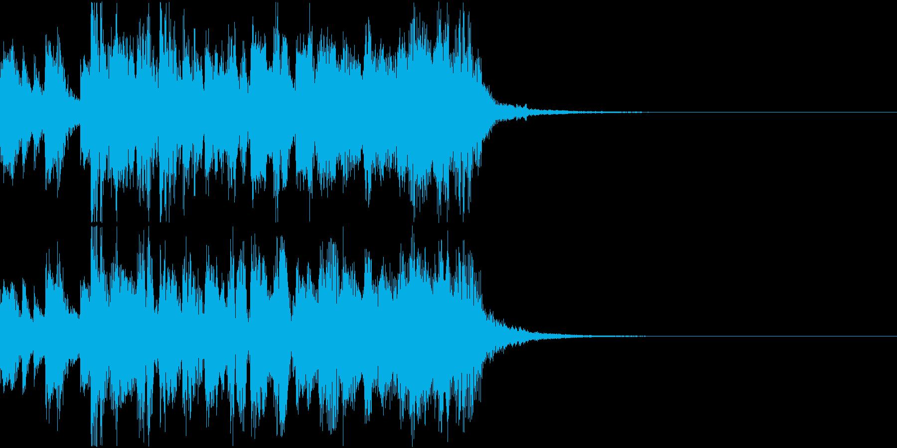 バトル系アニメのジングル向け激アツテクノの再生済みの波形
