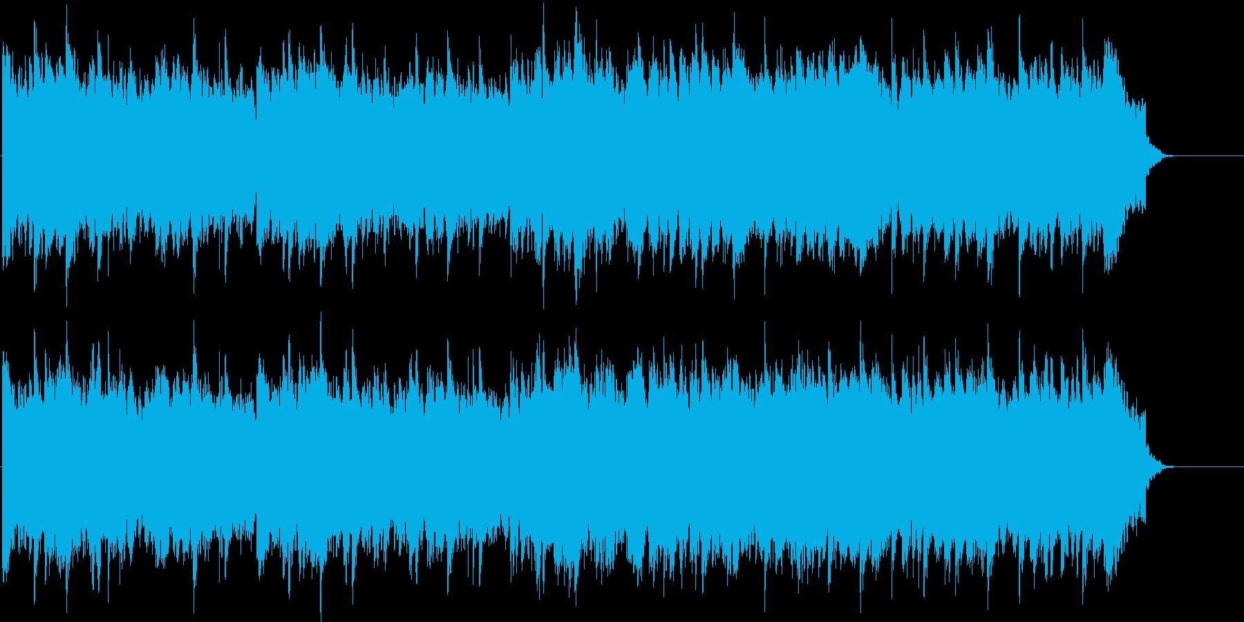 しっとりとした哀愁漂う自然のBGMの再生済みの波形