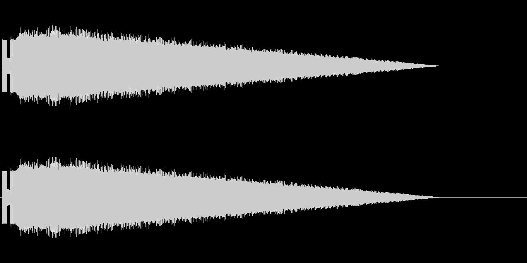 レトロゲーム風レーザーショット2の未再生の波形