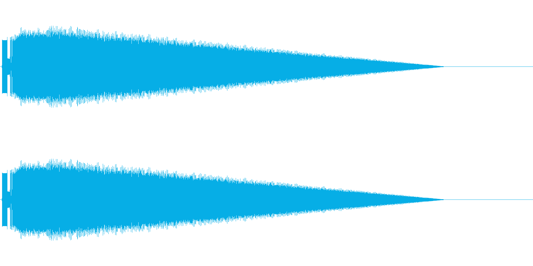 レトロゲーム風レーザーショット2の再生済みの波形