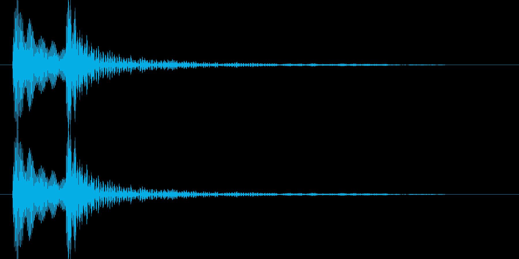 ポコ(ポコン)汎用的なクリック音(低音)の再生済みの波形