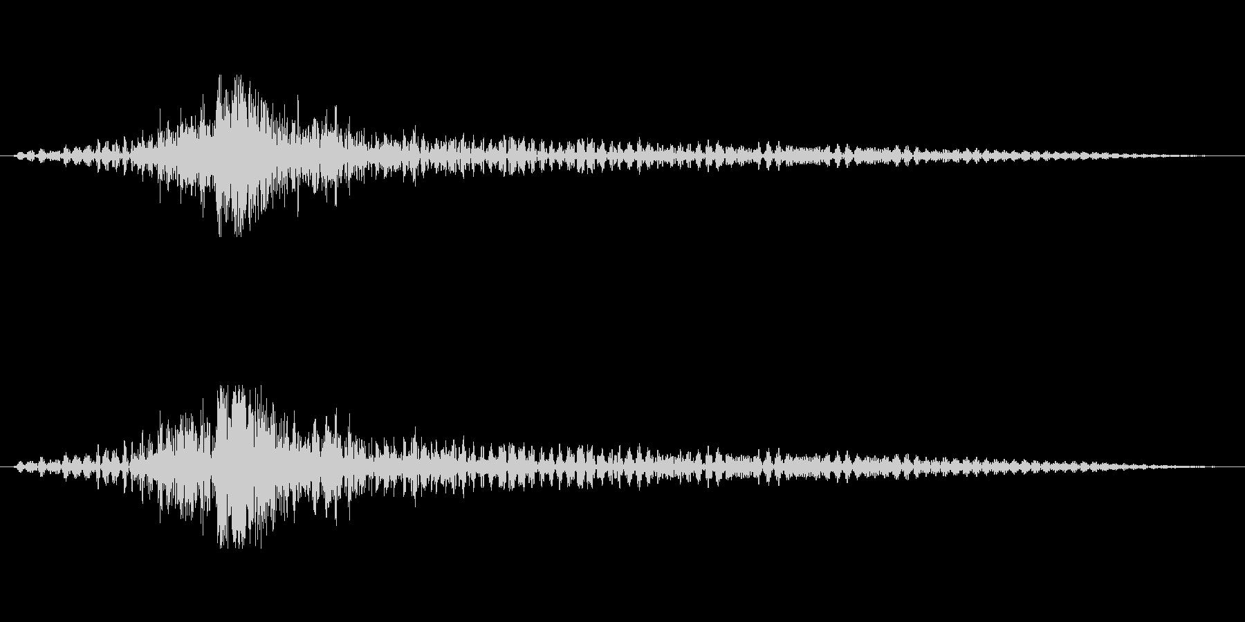 ティンパニーで「ドゥルドゥルドカン」の未再生の波形