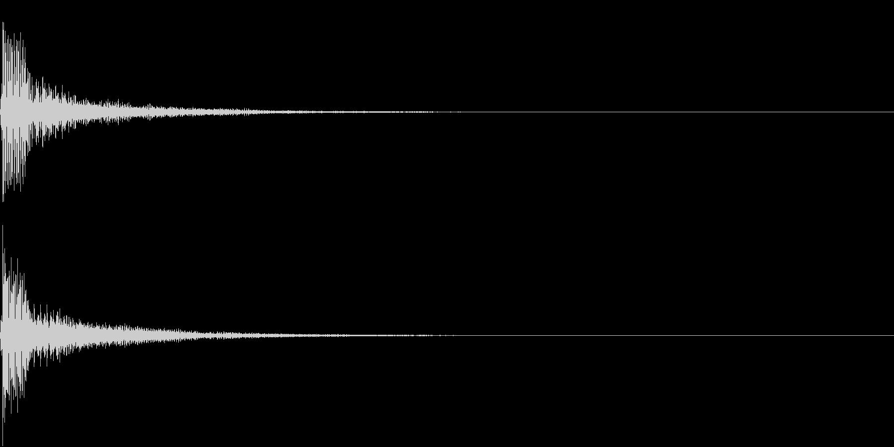 Push 汎用決定・セレクト音 8の未再生の波形