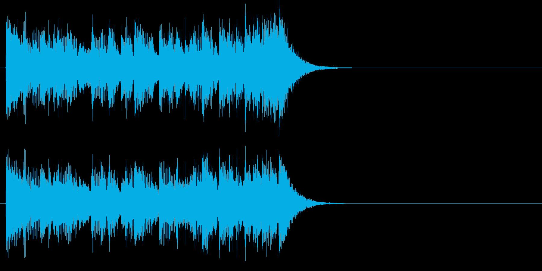 ジングル(ポップス・タイプ)の再生済みの波形