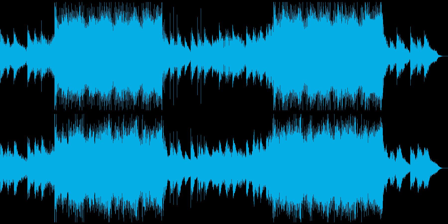 感動を演出するCM、爽やか動画、nodrの再生済みの波形