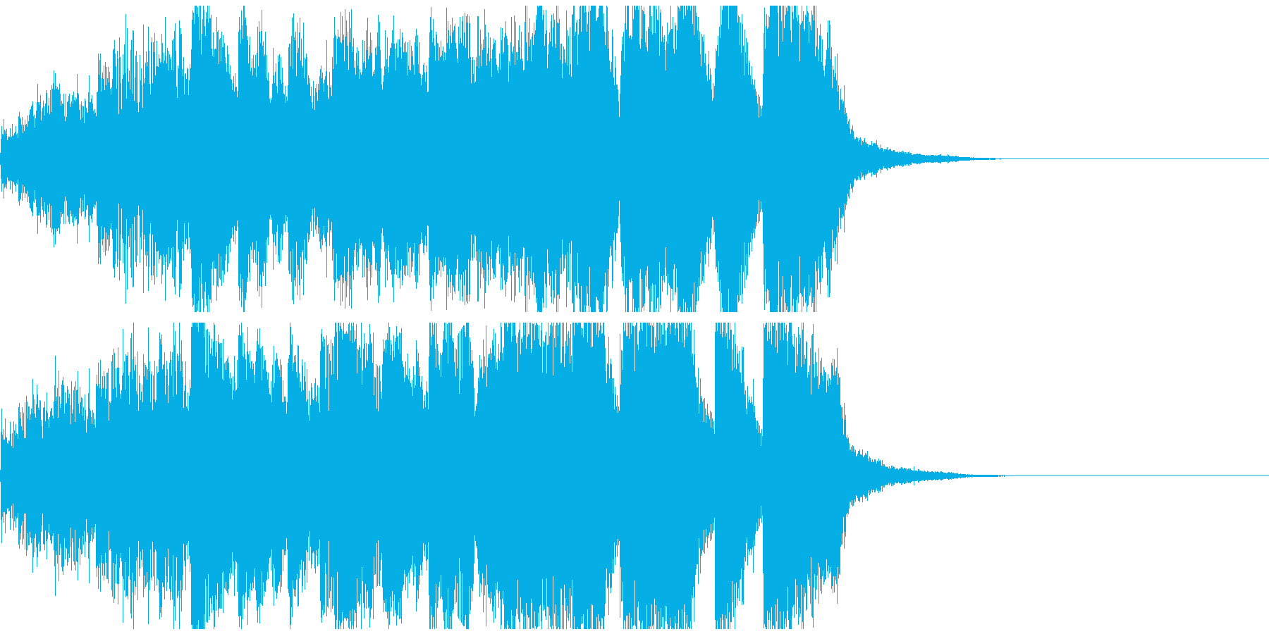 うれしいファンファーレ ジングル約10秒の再生済みの波形