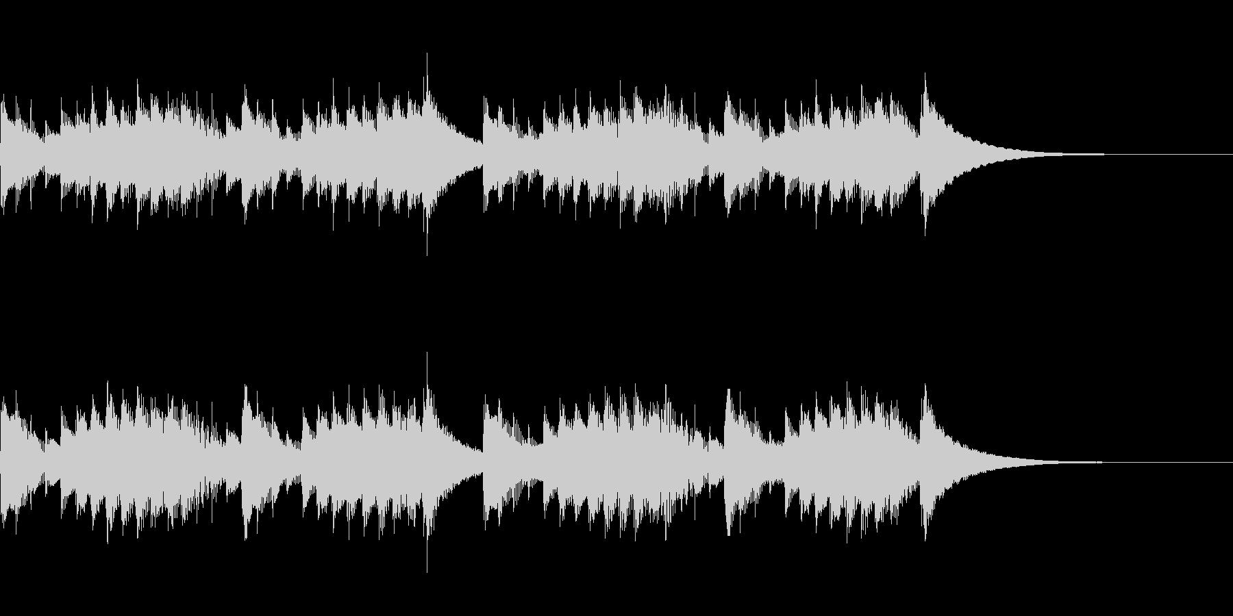 明るいオルゴール曲の未再生の波形