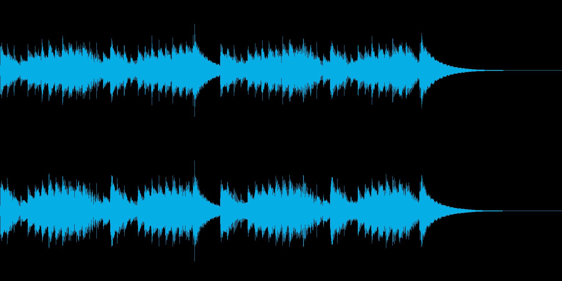 明るいオルゴール曲の再生済みの波形