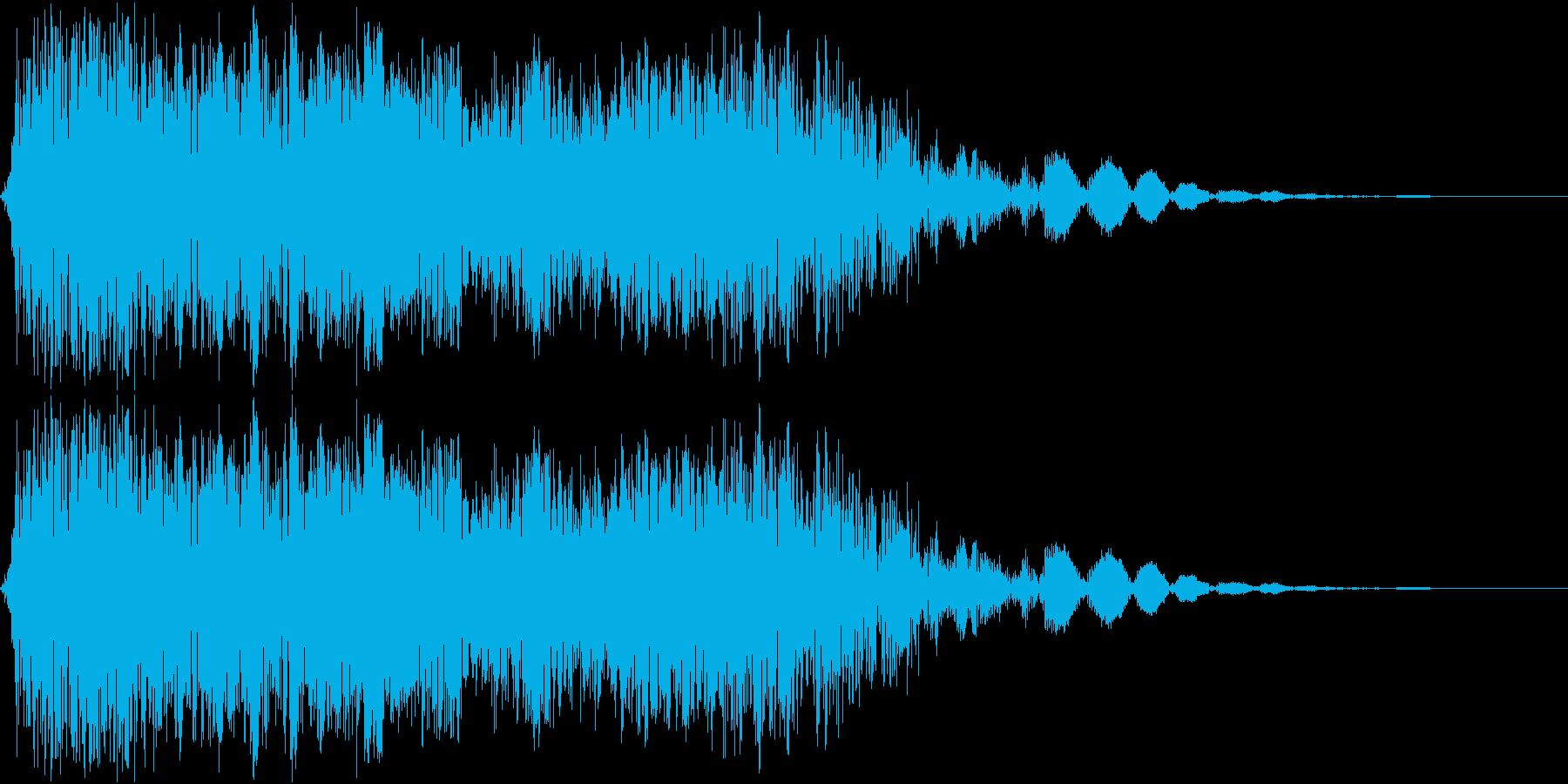 強力な斬撃_インパクト系の音ですの再生済みの波形