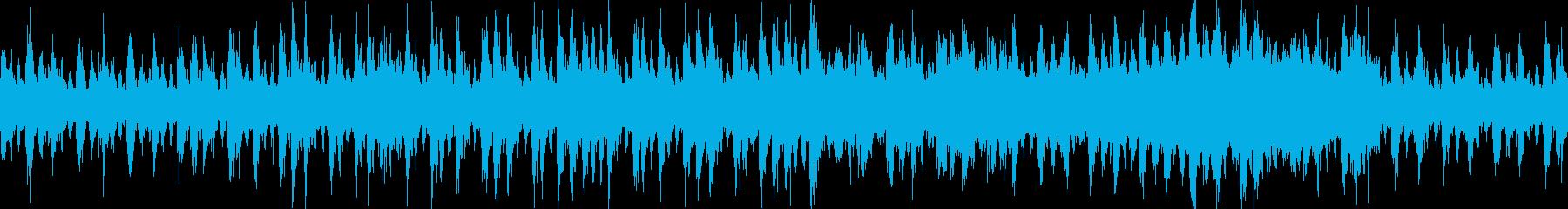 緊迫感を煽るハリウッド風BGM【ループ】の再生済みの波形