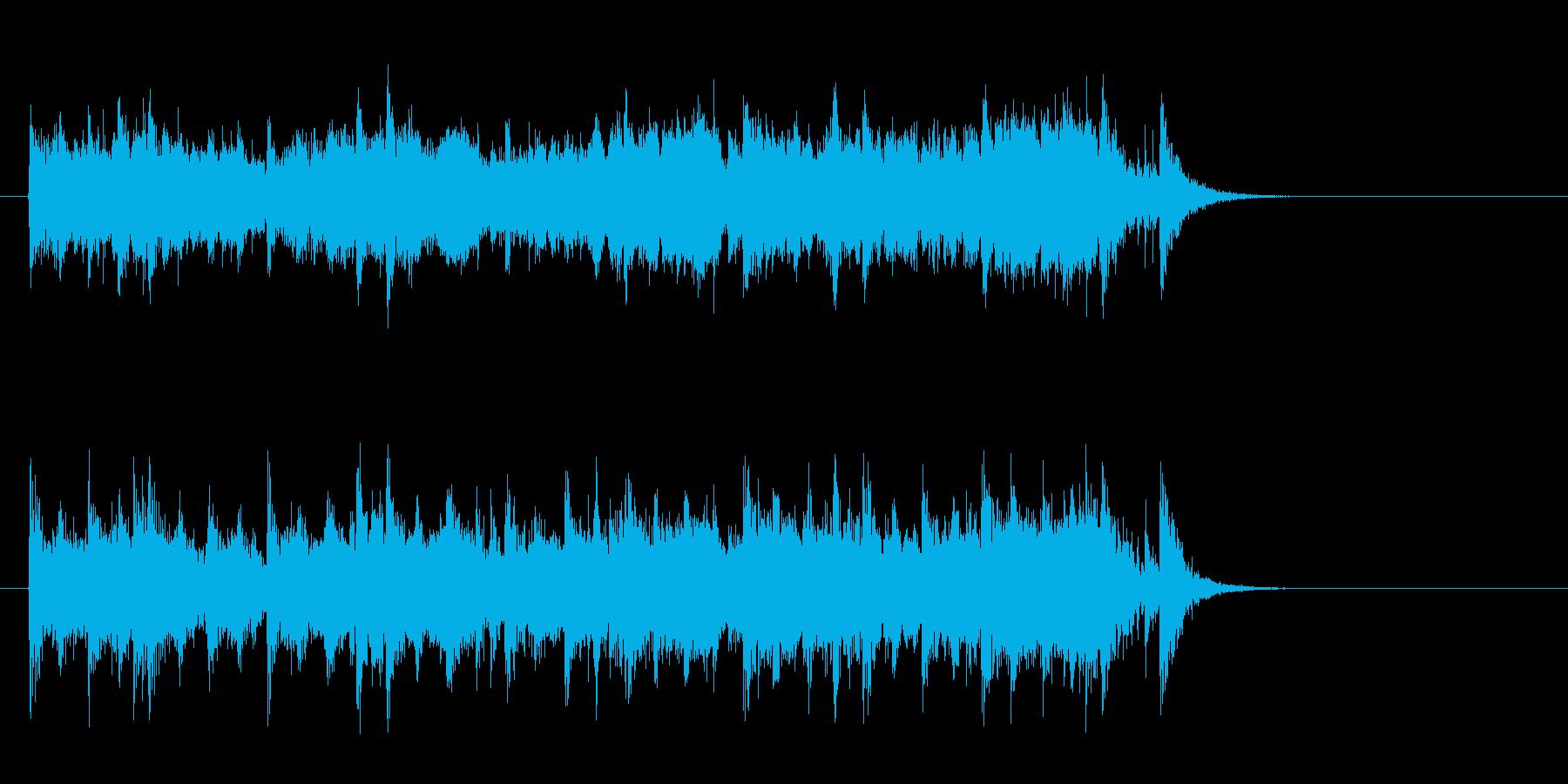素朴なフォークポップス(サビ)の再生済みの波形