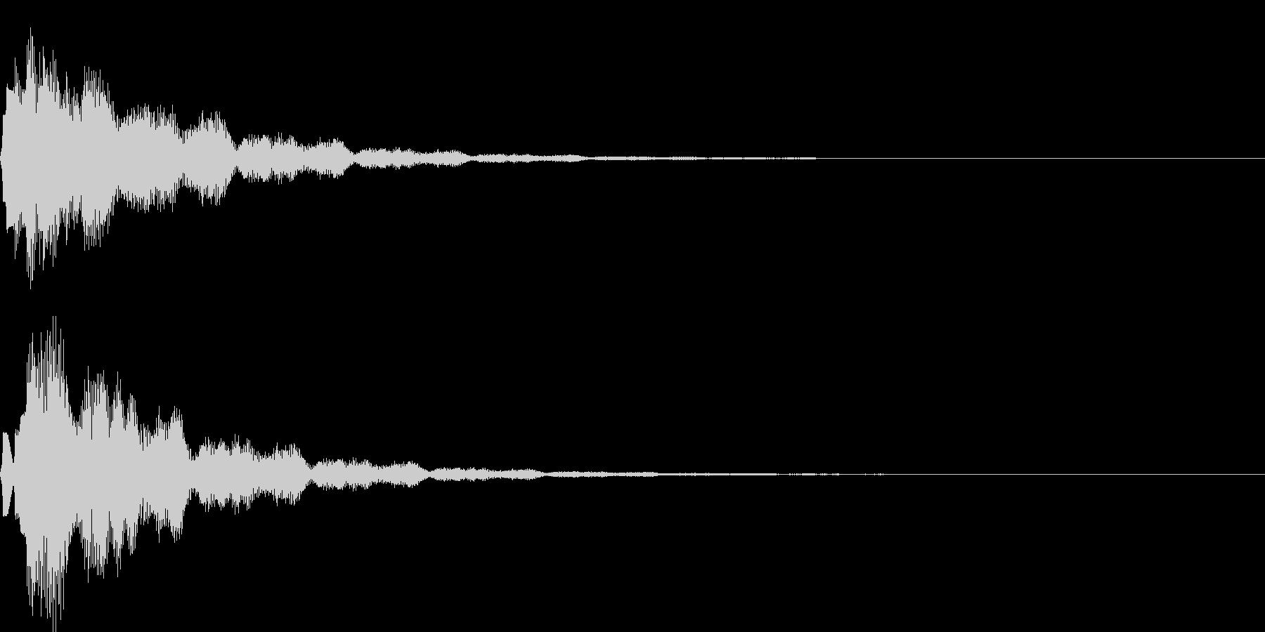 サウンドロゴ40_ベル系の未再生の波形