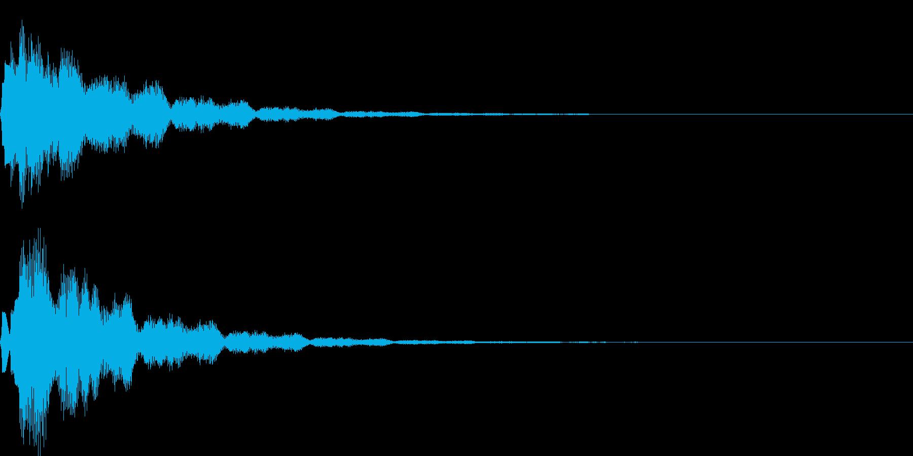 サウンドロゴ40_ベル系の再生済みの波形