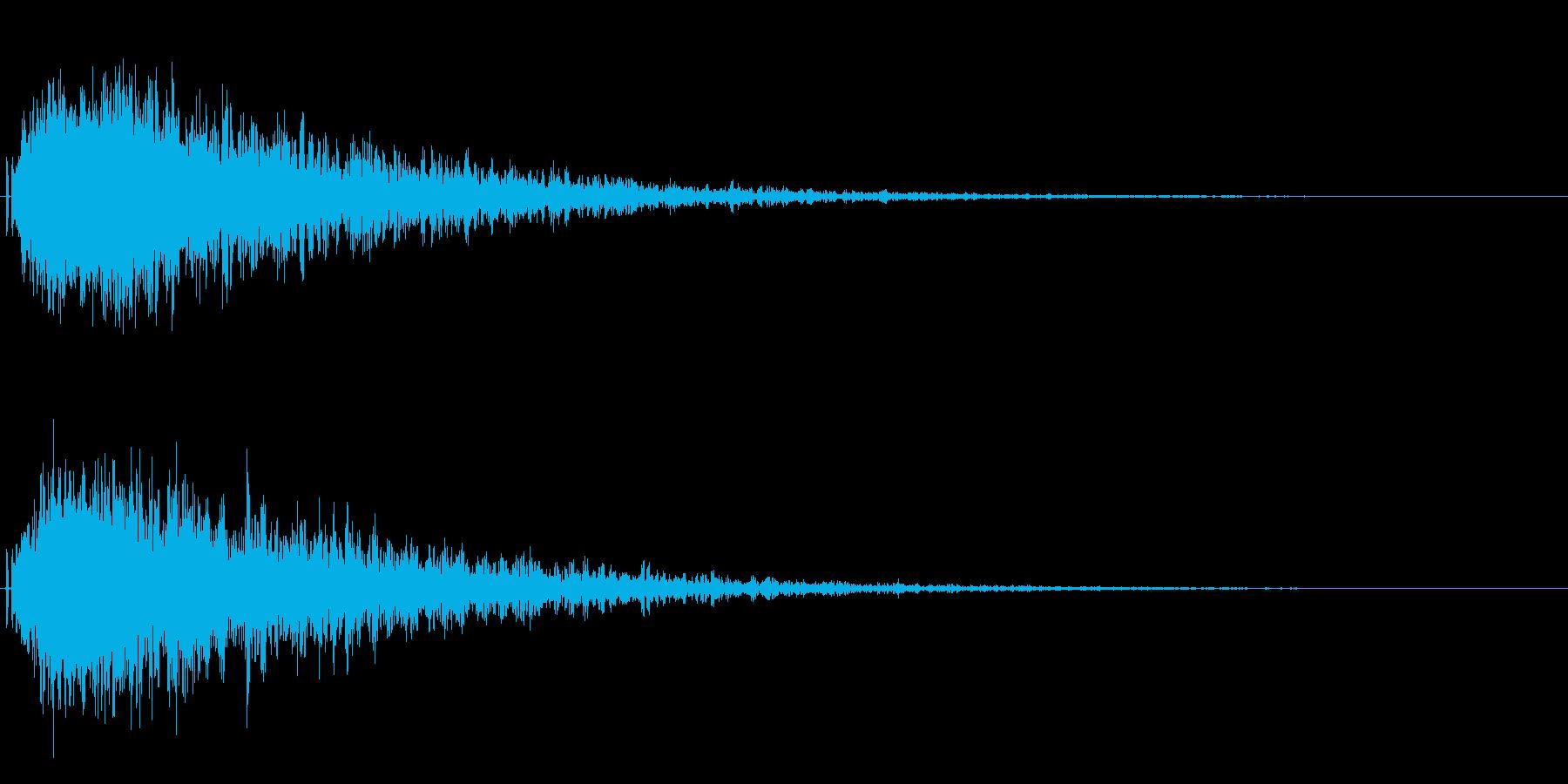 シャキーン!残響のあるインパクトに最適!の再生済みの波形