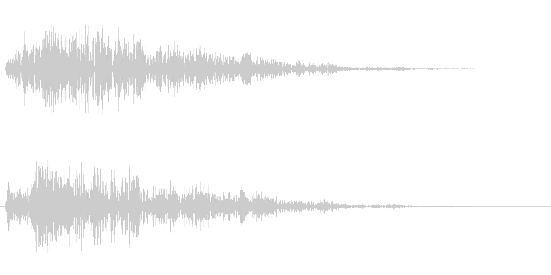 ビヨヨヨーン(跳ねる、消える、バネの音)の未再生の波形