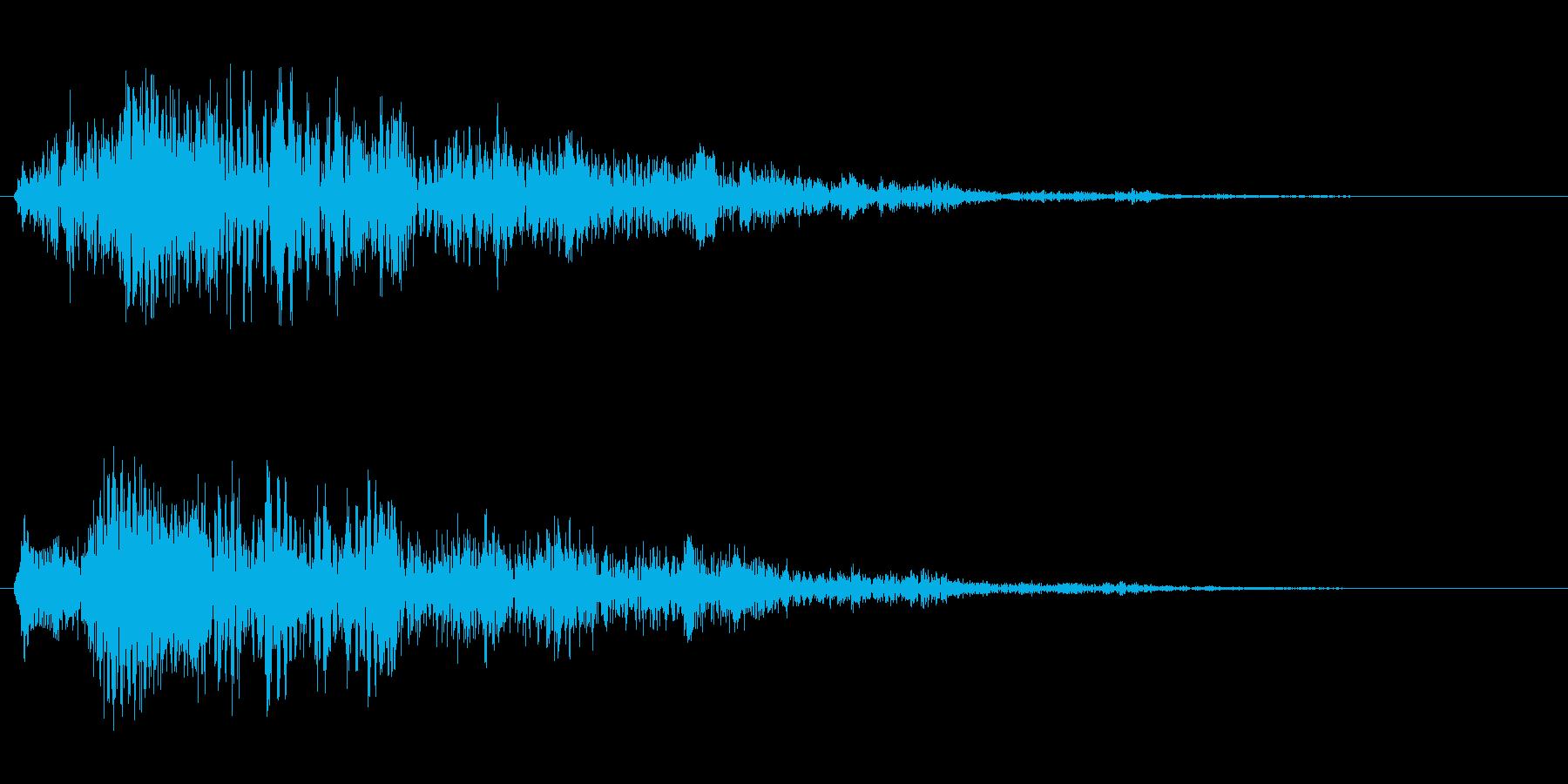 ビヨヨヨーン(跳ねる、消える、バネの音)の再生済みの波形