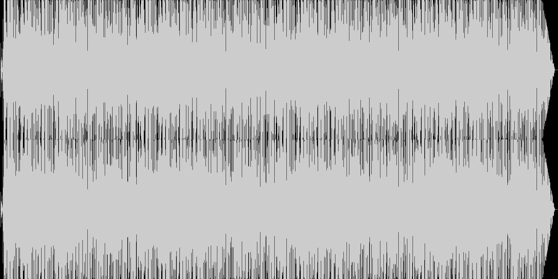 ラジオ番組風テーマソングの未再生の波形