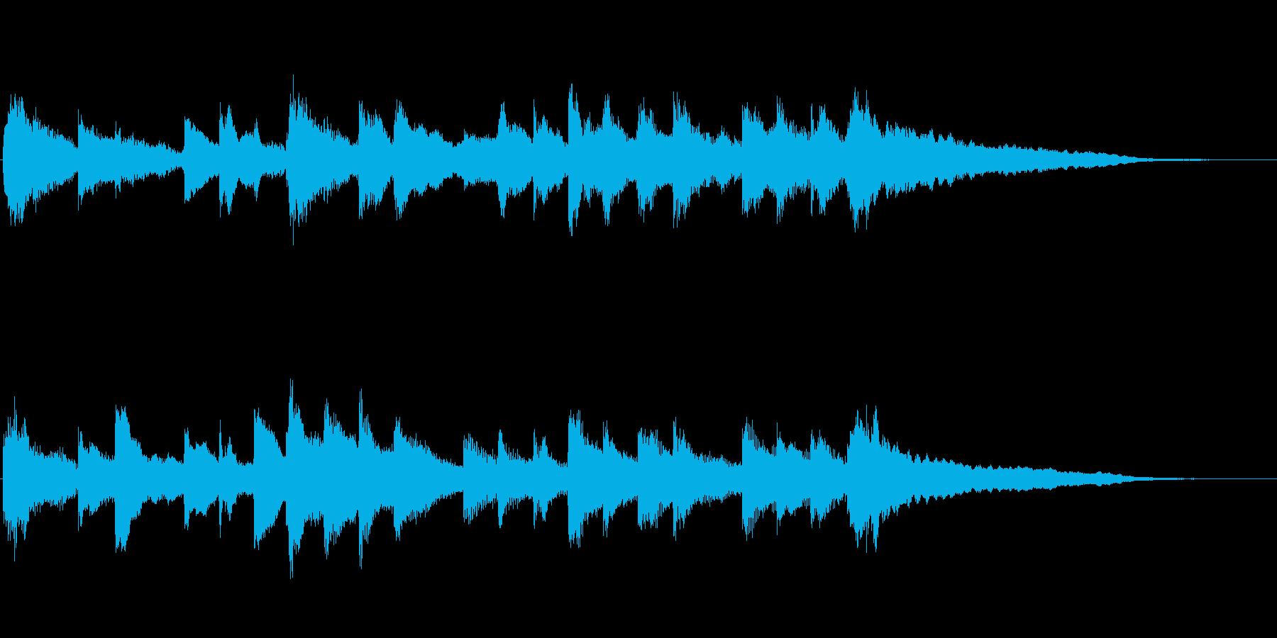 しんみりした感じのピアノジングルです。の再生済みの波形