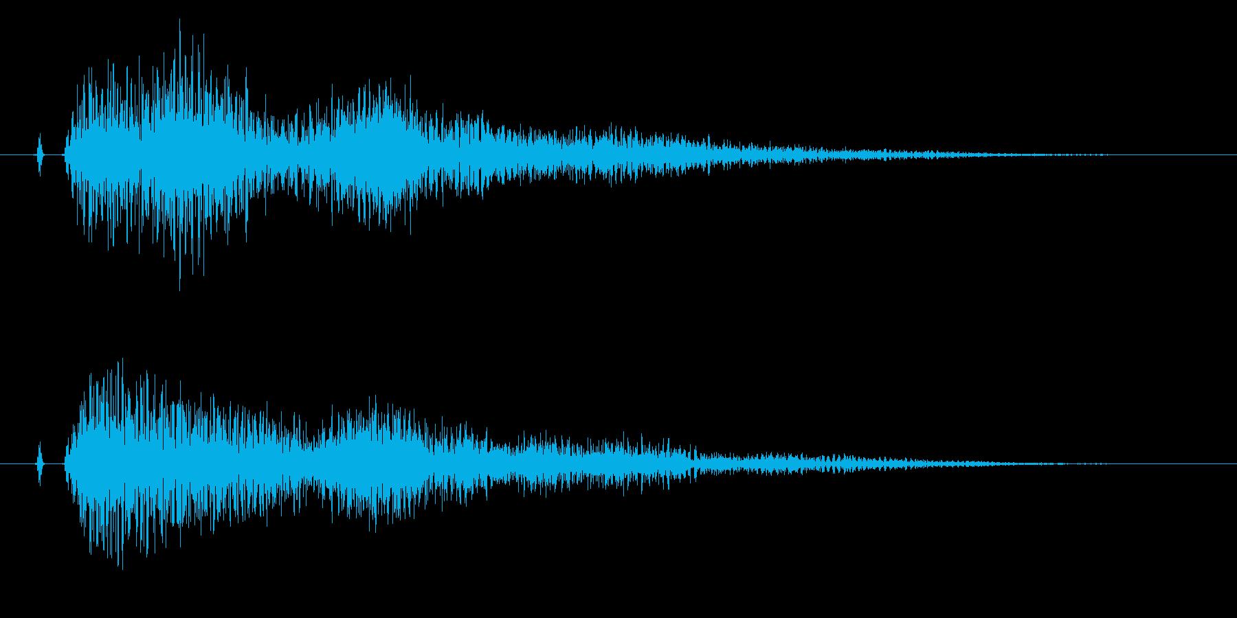 タッチ決定クリック、決定、サウンドロゴ!の再生済みの波形