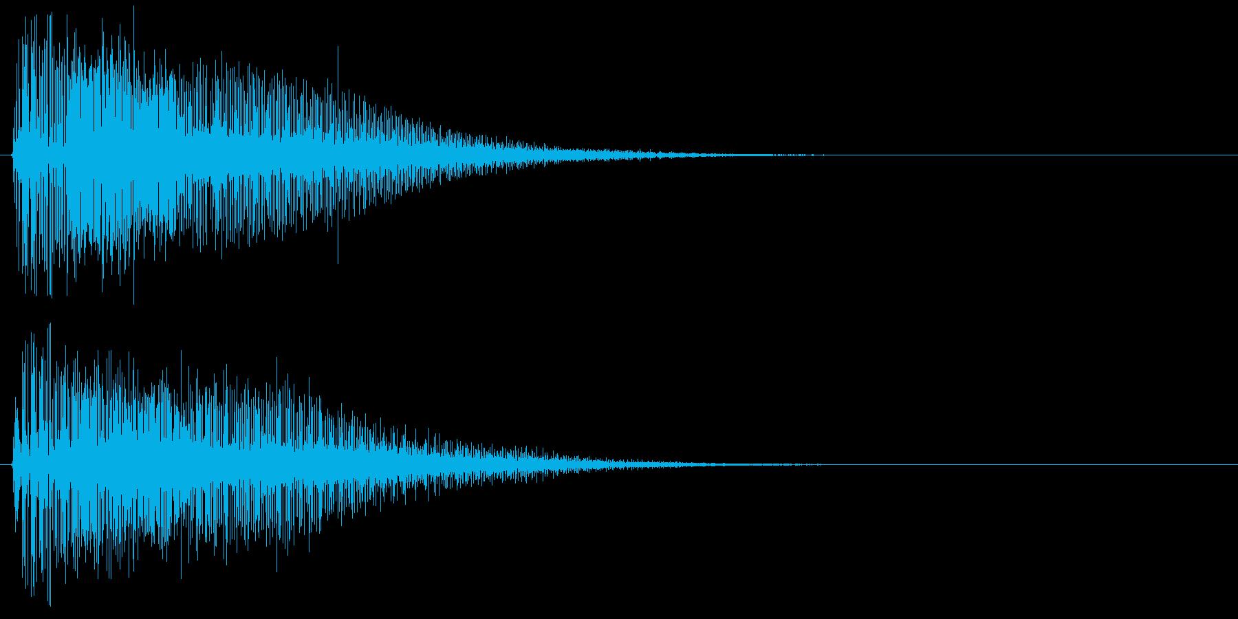 ライトセーバーを抜く音 光剣 レーザーの再生済みの波形