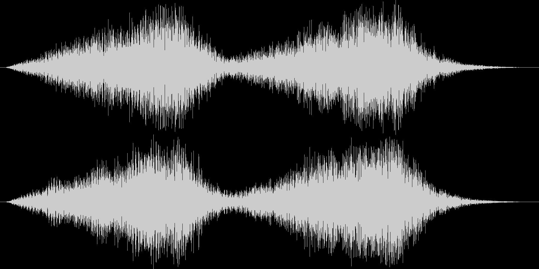 サスペンス的不安感音の未再生の波形