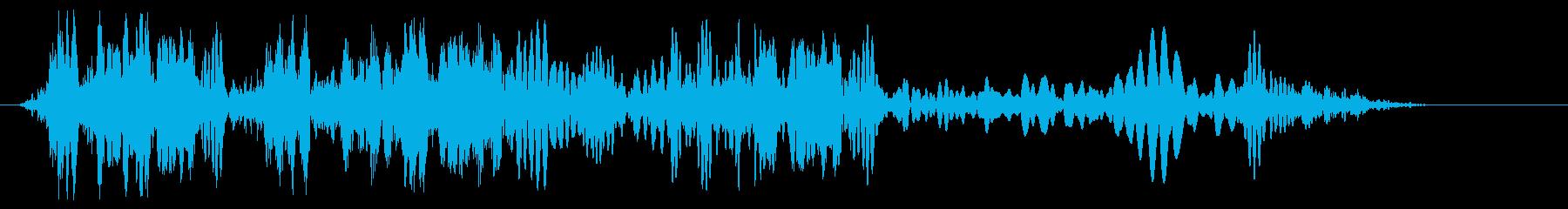 ロープが巻き取られる音の再生済みの波形
