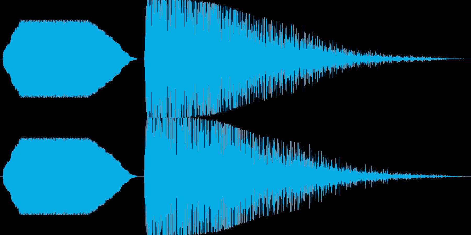 ヒューン……ドカーン!【バズーカ砲2】 の再生済みの波形