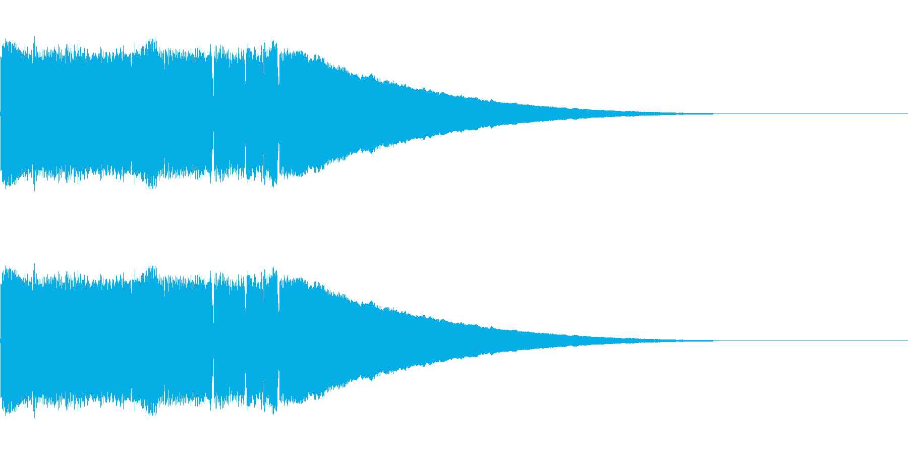 キラキラしたかわいい効果音です。の再生済みの波形