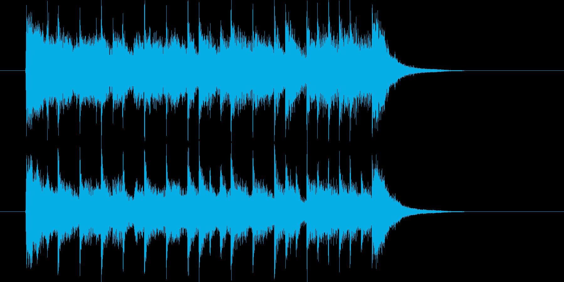 ドラムの軽快なリズムと共にの再生済みの波形