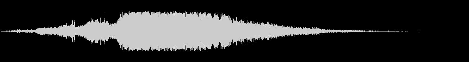 ファンタジーサウンドロゴの未再生の波形