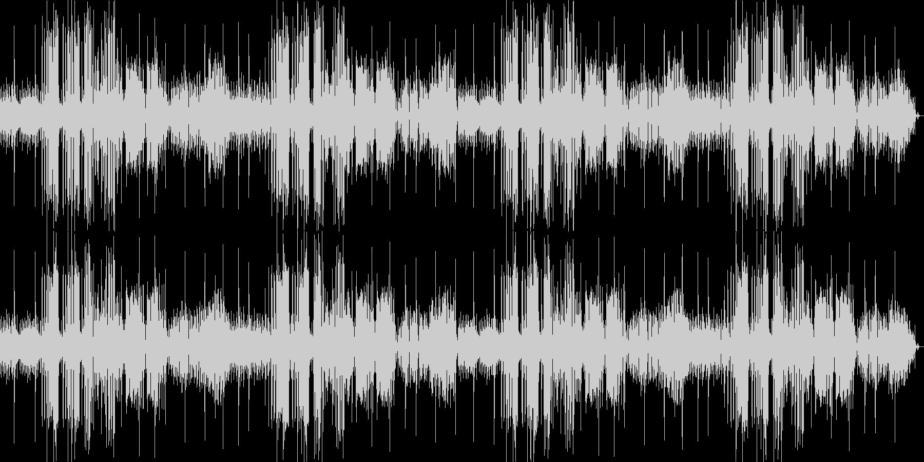 おしゃれなジャズの雰囲気漂うBGMの未再生の波形
