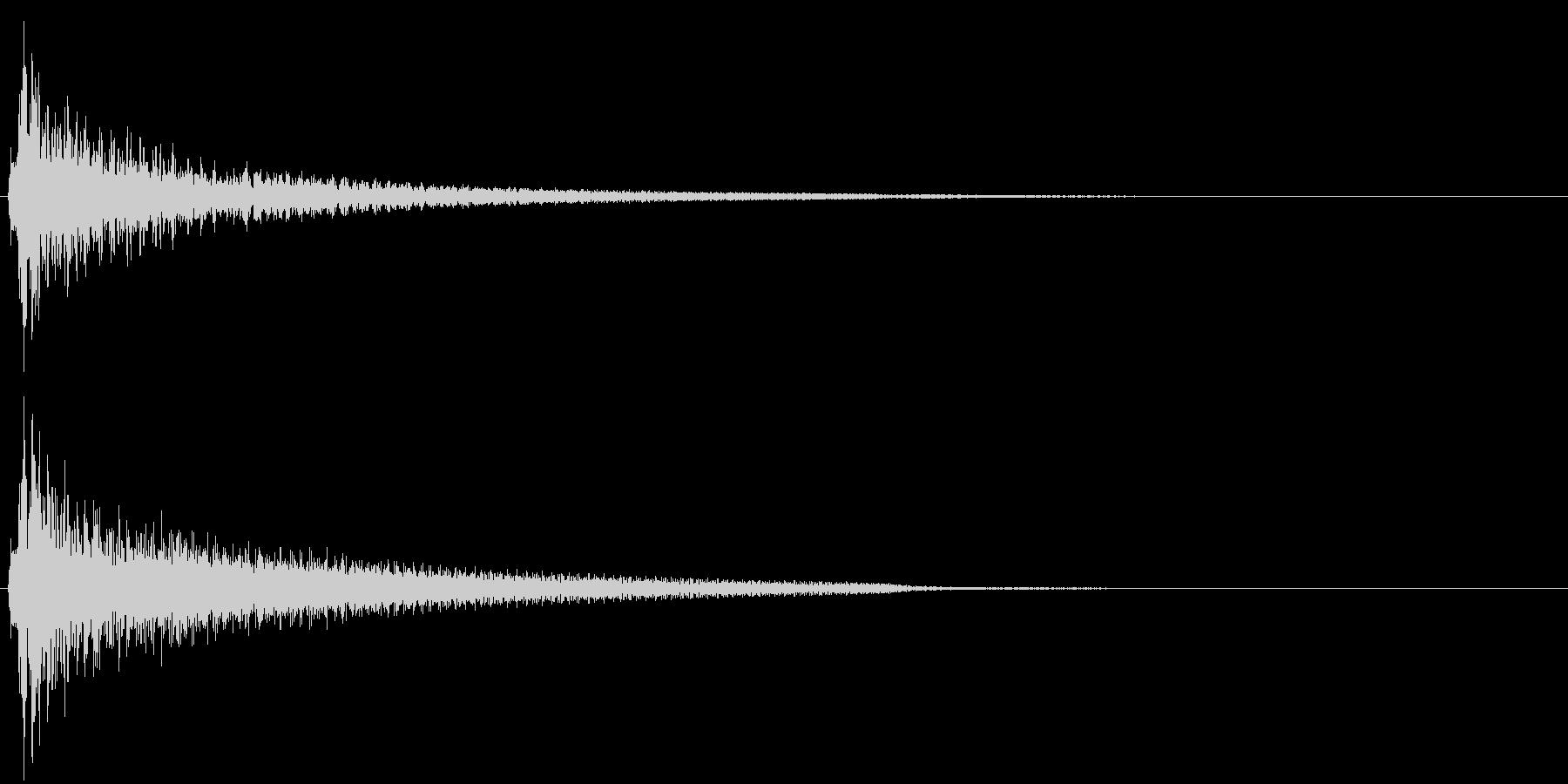 アコースティックギターによるクリック音の未再生の波形