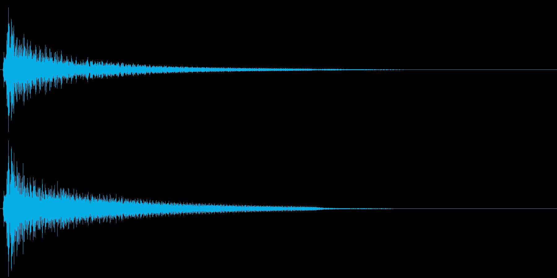 アコースティックギターによるクリック音の再生済みの波形