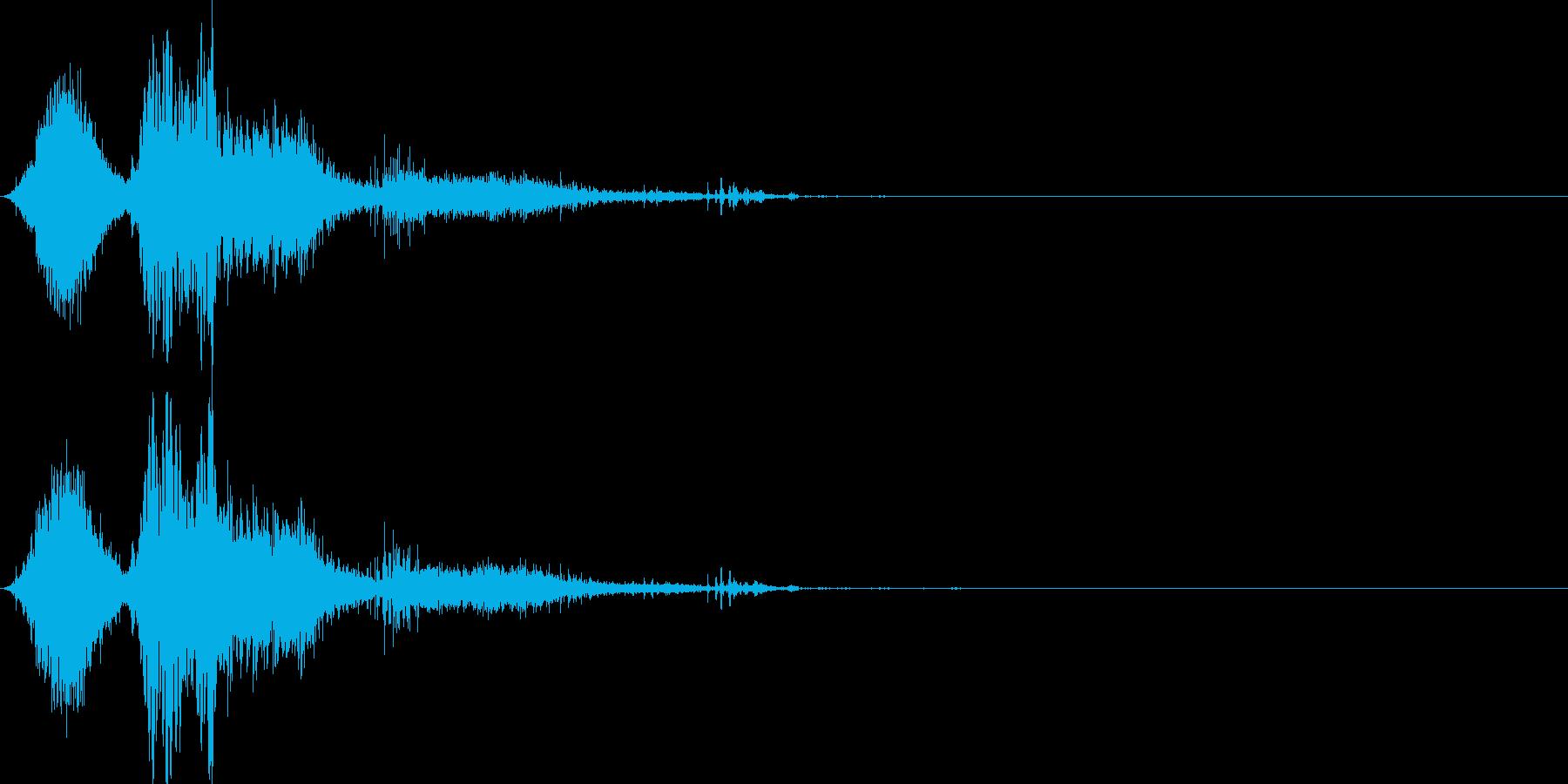 斬撃音(刀や剣で斬る/刺す効果音)16cの再生済みの波形