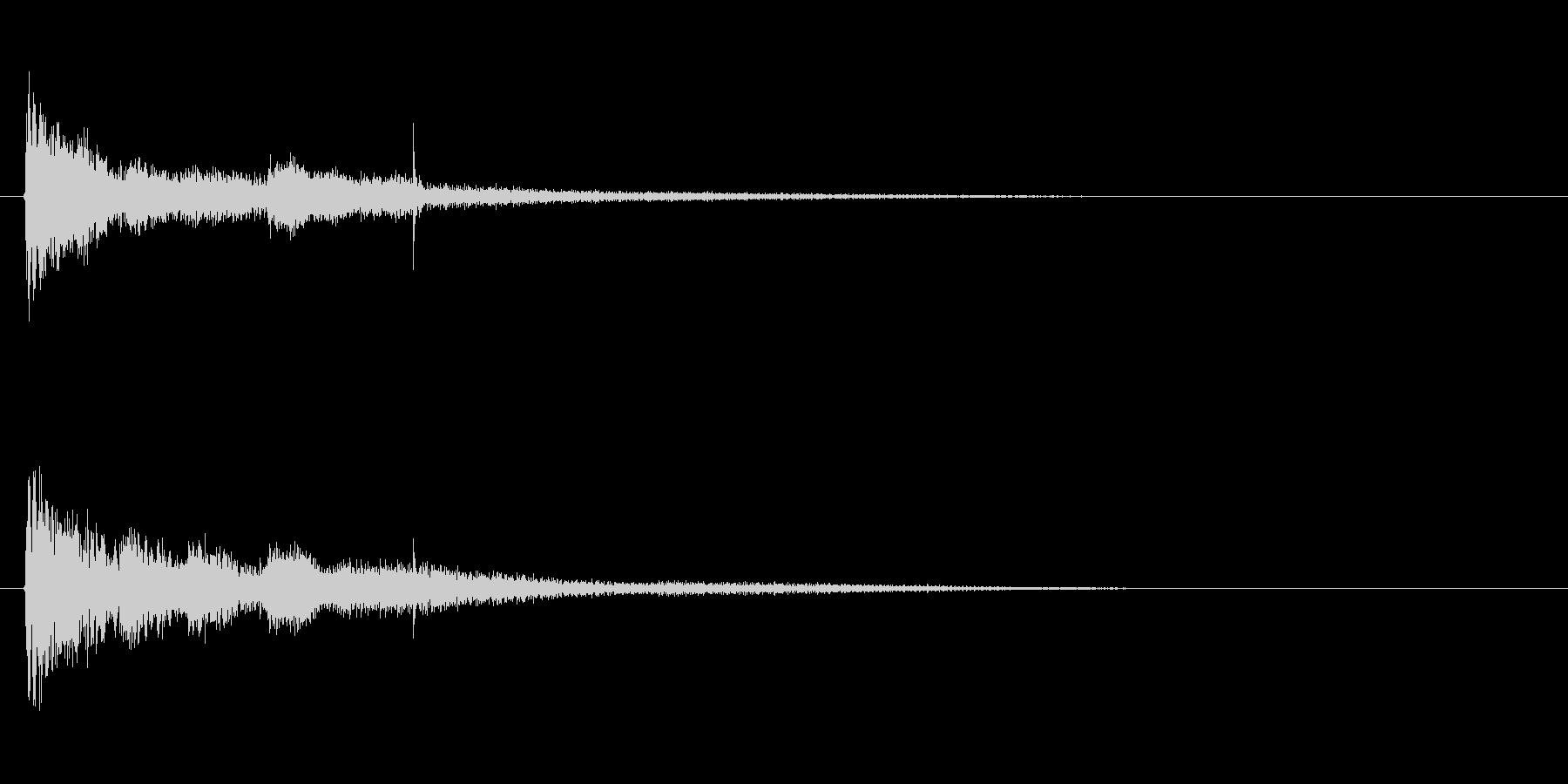 琴、尺八、和太鼓を使った純和風SEの未再生の波形