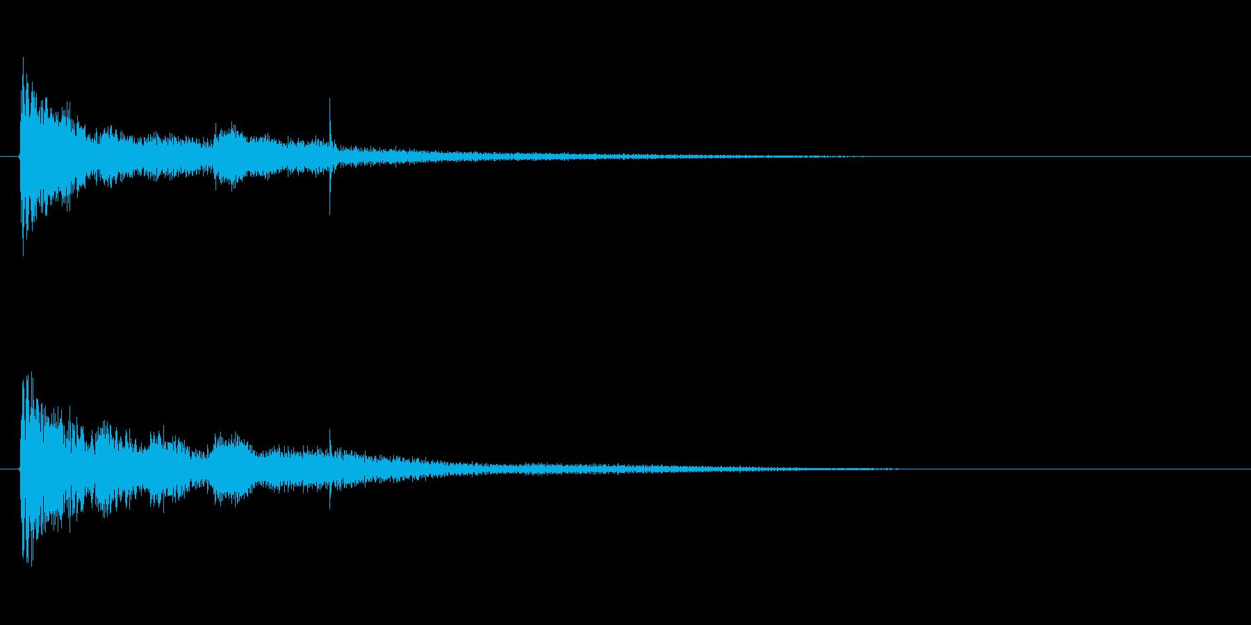 琴、尺八、和太鼓を使った純和風SEの再生済みの波形