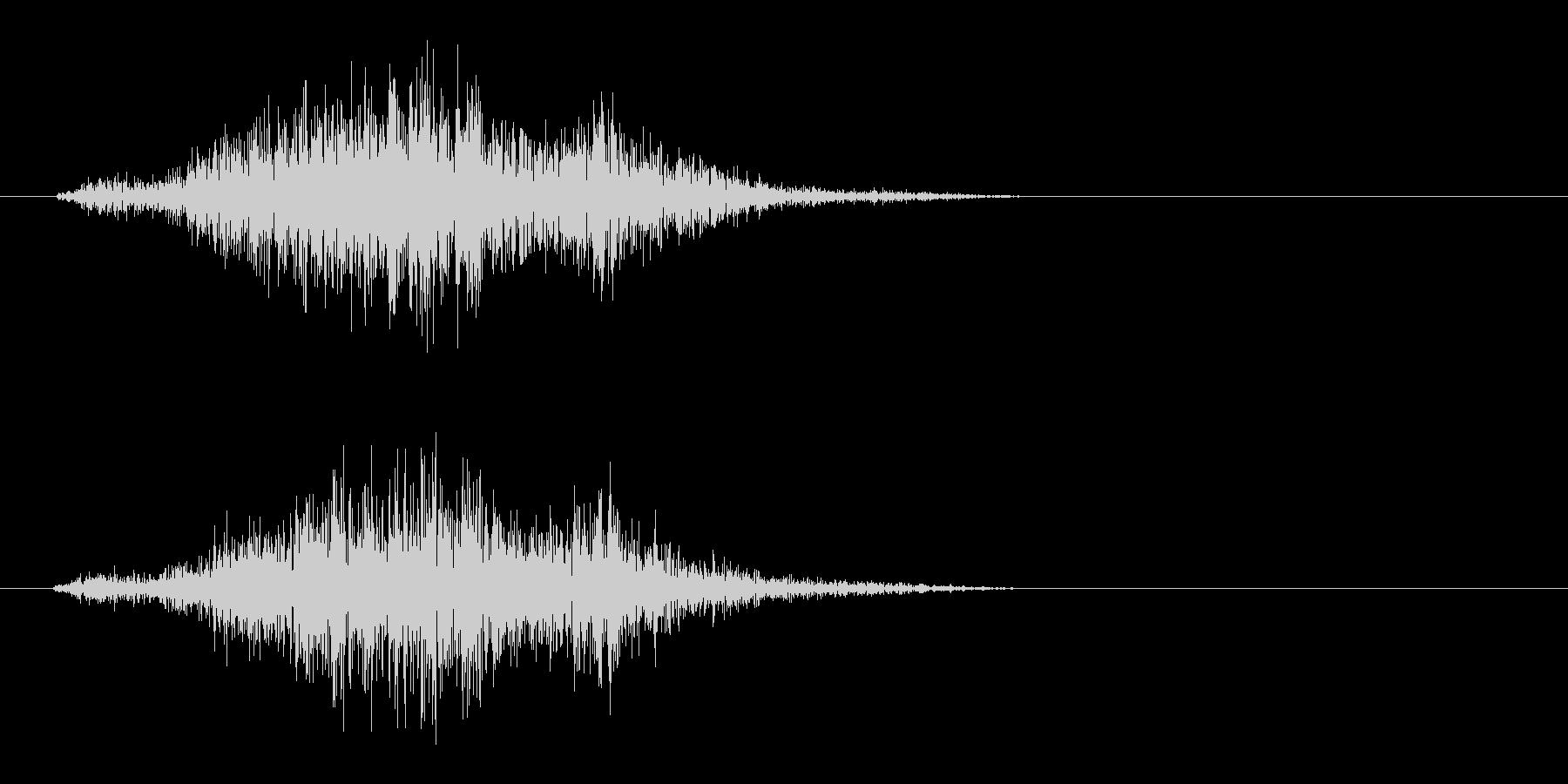 シュッ(決定音、摩擦、紙)の未再生の波形