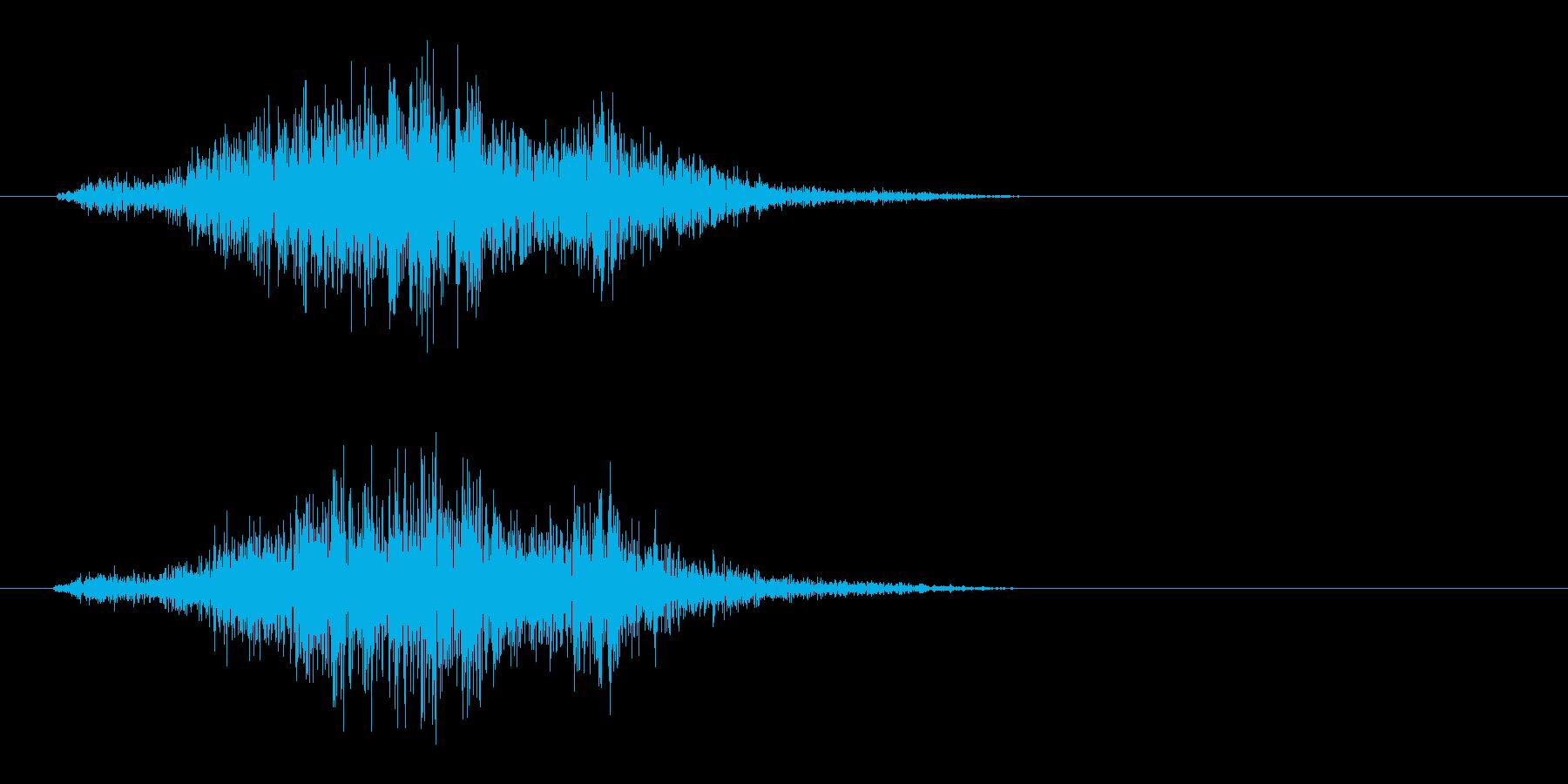 シュッ(決定音、摩擦、紙)の再生済みの波形