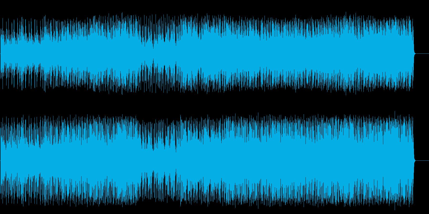 深夜ドラマ風重厚なマイナーテクノポップの再生済みの波形