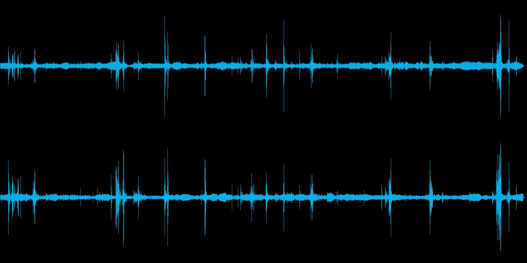 ぬるぬるタコの張り付く音の再生済みの波形