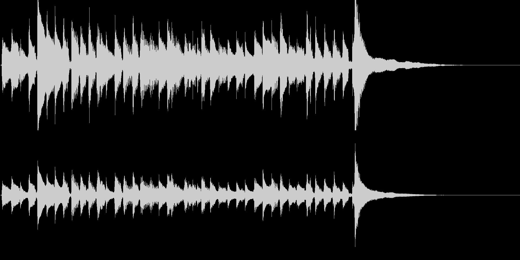 爽やかなギター重ね録りの曲【生音】の未再生の波形