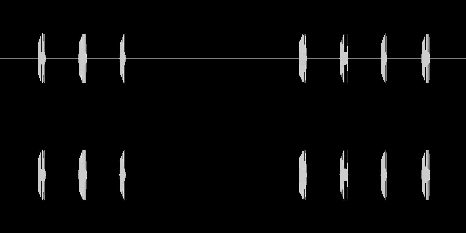 シューティング キャラ足音 ププププの未再生の波形