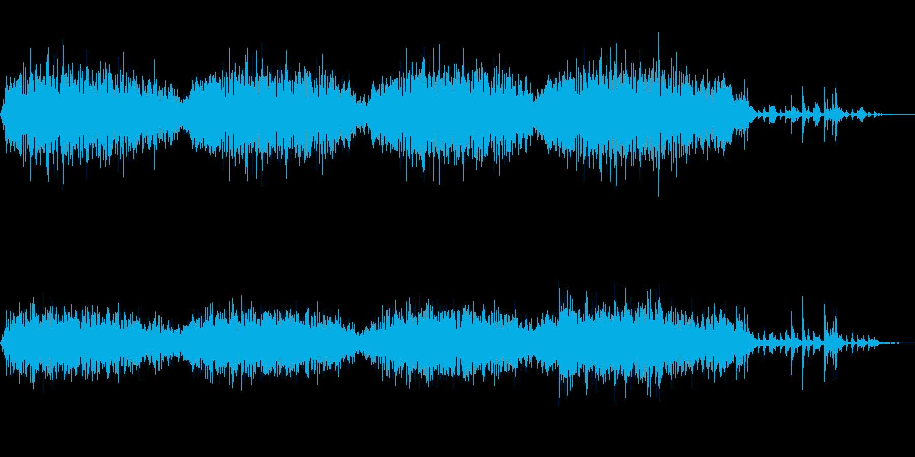 神秘的な音とパッドが印象的なアンビエントの再生済みの波形