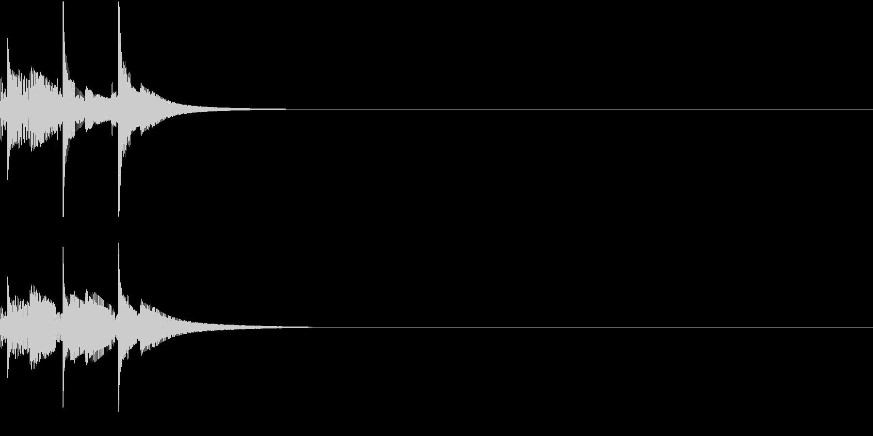 決済やコマンドの承認音 ピコピコの未再生の波形