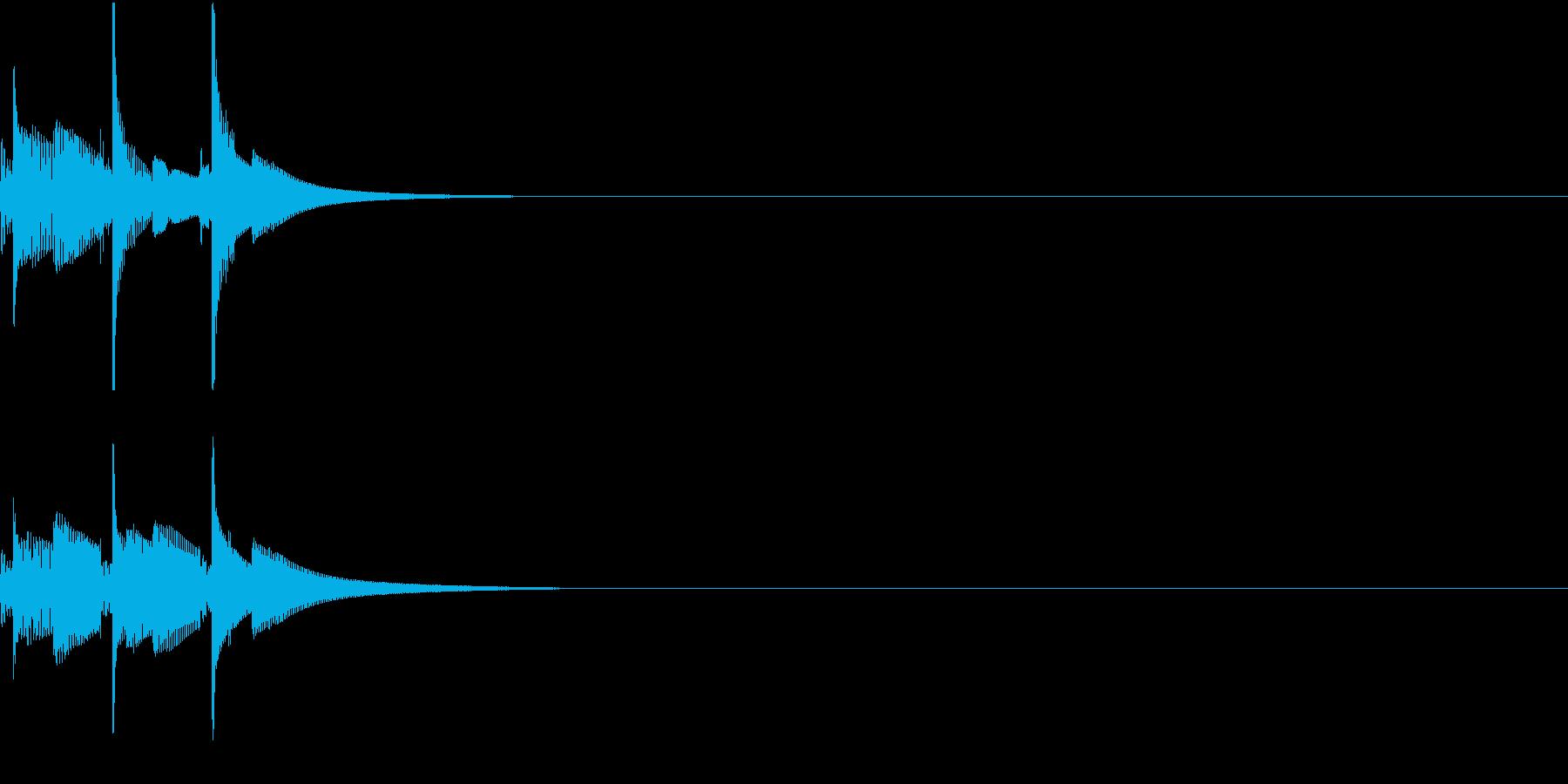 決済やコマンドの承認音 ピコピコの再生済みの波形