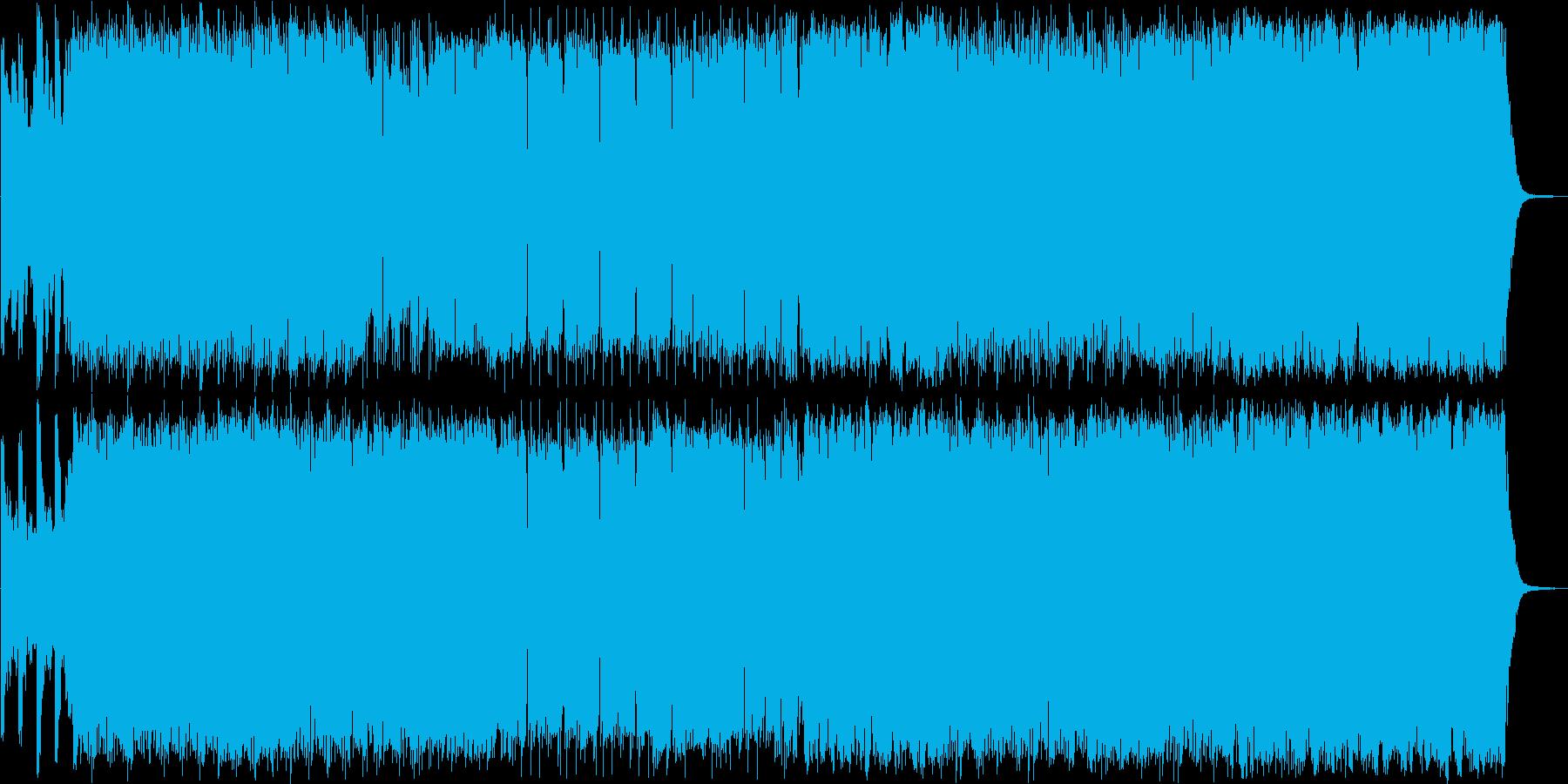 スピード感と鋭さのあるシンセサイザーの再生済みの波形