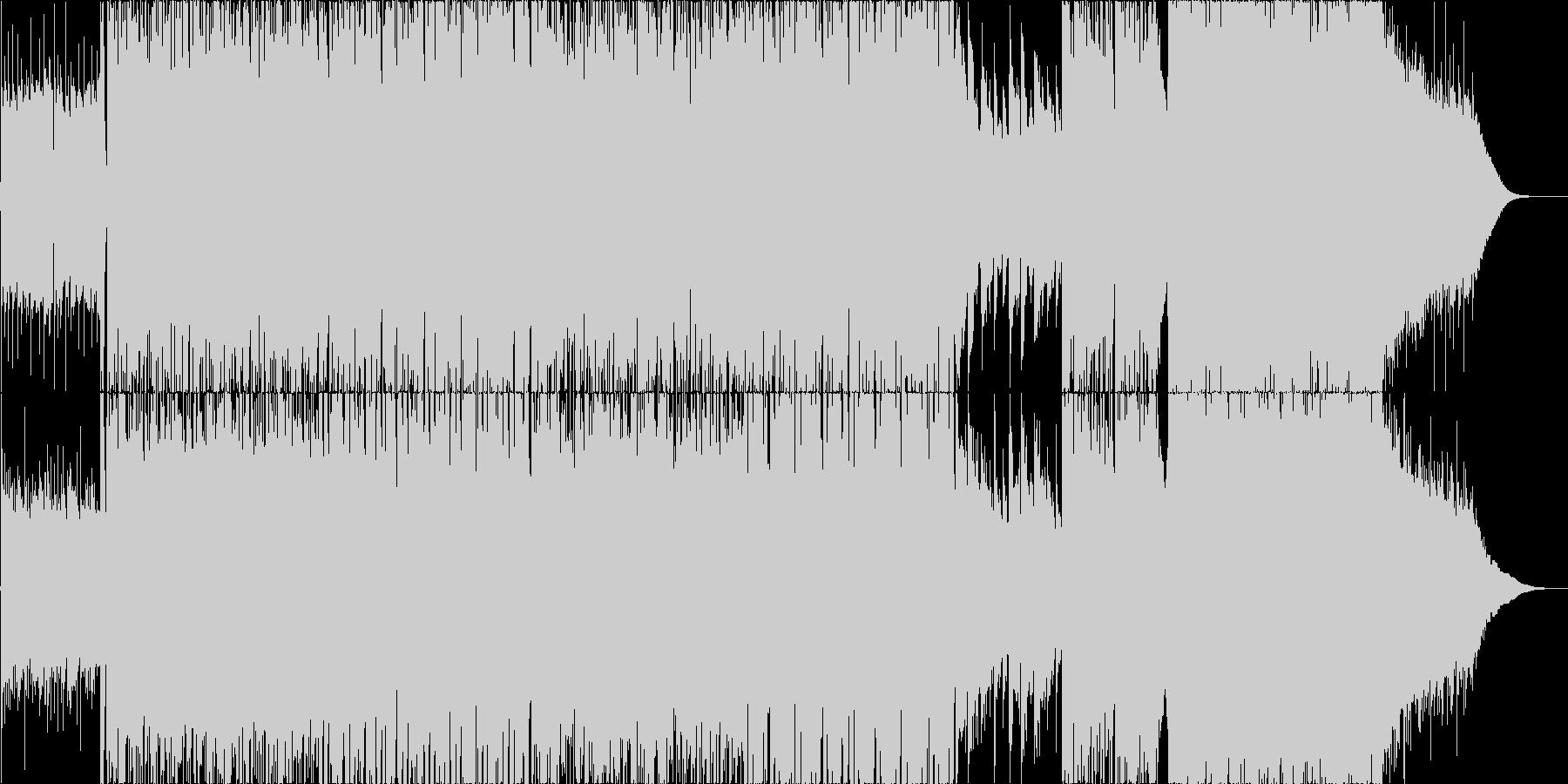 疾走感のあるポストロック、CMや映像等にの未再生の波形