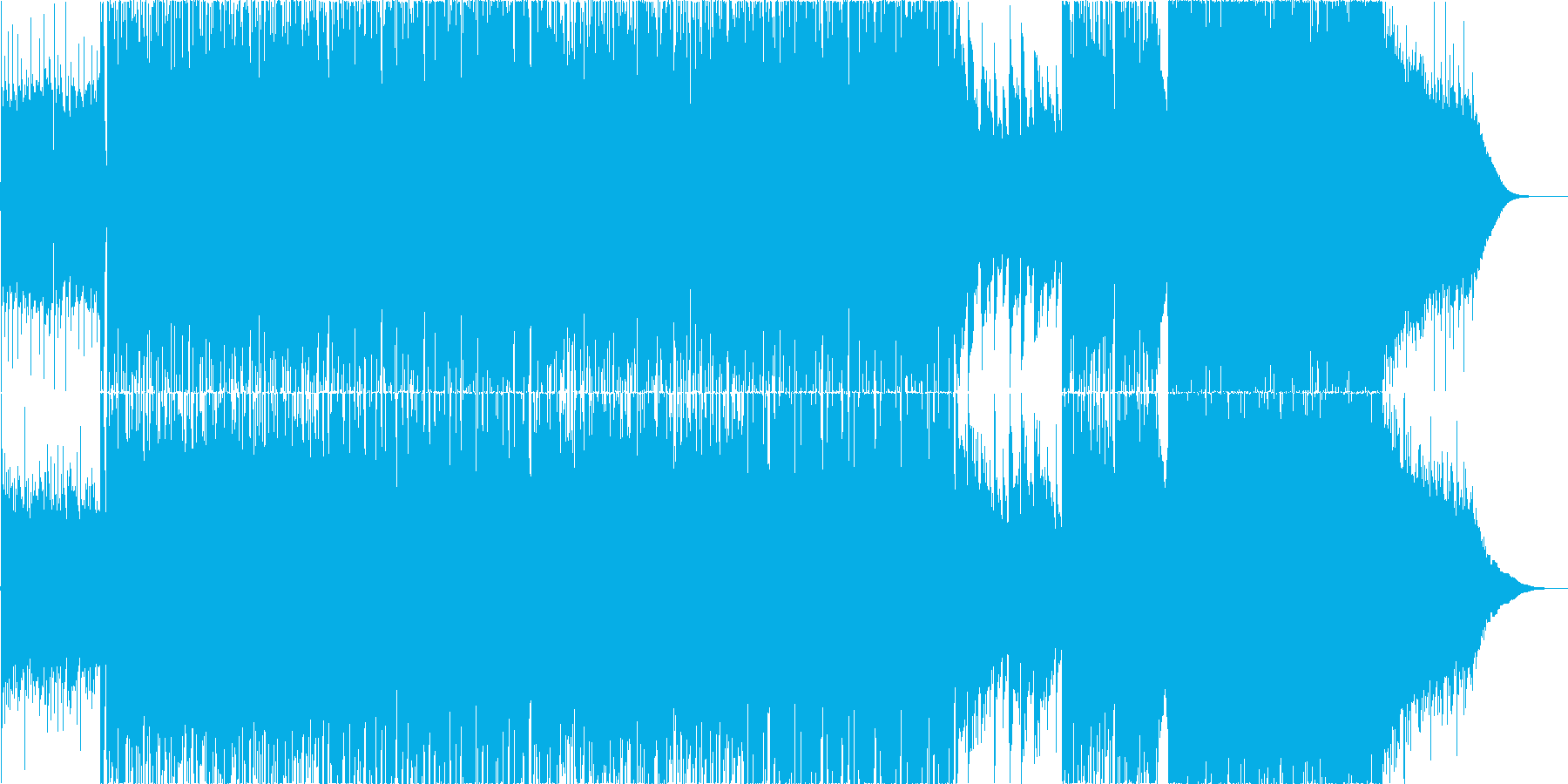 疾走感のあるポストロック、CMや映像等にの再生済みの波形